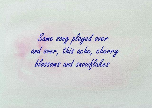 Cherry Snow w words